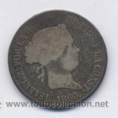 Monedas de España: ISABEL II- 10 REALES1860-MADRID- MBC-/BC+. Lote 3600205