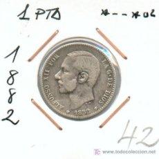 Monedas de España: 1 PESETA DE ALFONSO XII AÑO 1882. BONITA MONEDA DE PLATA DE ALFONSO XII, MUY BUEN PRECIO .... Lote 26311792