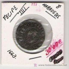 Monedas de España: FELIPE IIII 8 MARAVEDIS 1663. Lote 20652962