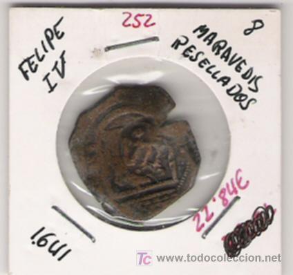 FELIPE IV 8 MARAVEDIS RESELLADA (Numismática - España Modernas y Contemporáneas - De Reyes Católicos (1.474) a Fernando VII (1.833))