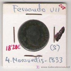 Monedas de España: FERNANDO VII 4 MARAVEDIS . Lote 7646407
