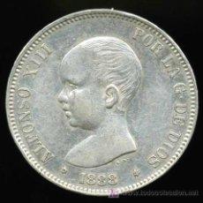 Monedas de España: 5 PTAS 1888 *18-88 MPM ALFONSO XIII EBC/EBC+. Lote 24235179