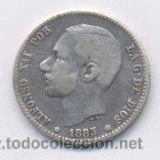 Monedas de España: ALFONSO XII- 1 PESETA- 1883*18-83 MSM. Lote 6360998