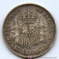 Monedas de España: 1 PESETA DE PLATA DEL AÑO 1876. ALFONSO XII. Lote 26968351