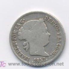 Monedas de España: ISABEL II- 2 REALES- 1857- BARCELONA. Lote 7476939