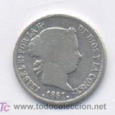 Monedas de España: ISABEL II- 2 REALES- 1861- BARCELONA. Lote 7476987