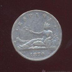 Monedas de España: MONEDA DE PLATA 5 PESETAS 1870. Lote 26533204