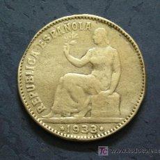Monedas de España: **BONITA, -- PESETA DE PLATA DE LA REPUBLICA (1933) ESTRELLAS NO LEGIBLES¡¡EMPIEZA TU COLECCION!!. Lote 26586904