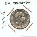Monedas de España: 20 CENTAVOS DE PESO DE FILIPINAS. MONEDA DE PLATA. ALFONSO XII. AÑO 1885. Lote 26943209