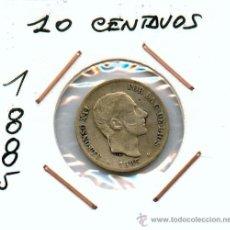 Monedas de España: 1O CENTAVOS DE PESO DE FILIPINAS. ALFONSO XII. MONEDA DE PLATA AÑO 1885. Lote 27244185