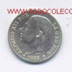 Monedas de España: 85- ALFONSO XII- 50 CENTIM OS-1885*8-6-MSM. Lote 1221914