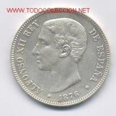 Monedas de España: 347- ALFONSO XII- 5 PESETAS- 1876*18-76 DEM. Lote 1785848