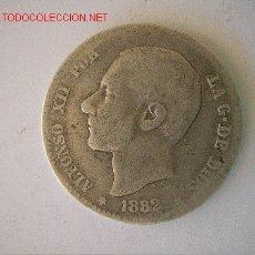 Monedas de España: ALFONSO XII - 1 PESETA 1882. Lote 143122642