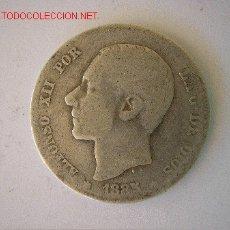 Monedas de España: ALFONSO XII - 1 PESETA 1885. Lote 26928546