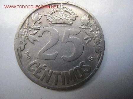 Monedas de España: ALFONSO XIII - 25 CENTIMOS 1925 - Foto 2 - 24487332