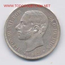 Monedas de España: 390- ALFONSO XII- 5 PESETAS- 1882*18-82- MSM. Lote 2111476