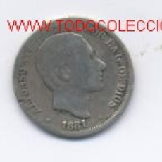 Monedas de España: 445- ALFONSO XII- 10 CENTAVOS-1881- FILIPINAS. Lote 2348619