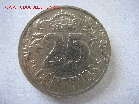 Monedas de España: ALFONSO XIII - 25 CENTIMOS 1925 - Foto 2 - 26899140