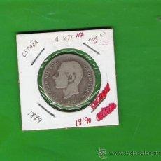 Monedas de España: 2 PESETAS DE PLATA DE ALFONSO XII DE 1879. Lote 9833100