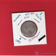 Monedas de España: 1 PESETAS DE PLATA DE ALFONSO XIII DE 1889. Lote 9866112