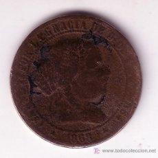 Monedas de España: MONEDA DE 2 1/2 CENTIMOS DE ESCUDO -ISABEL II- 1868. Lote 27292684