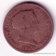 Monedas de España: MONEDA DE 10 CENTIMOS DE REAL-ISABEL II-AÑO 1860. Lote 26669393