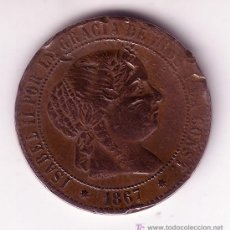 Monedas de España: 2 1/2 CENTIMOS DE ESCUDO -ISABEL II- 1867. Lote 27002121