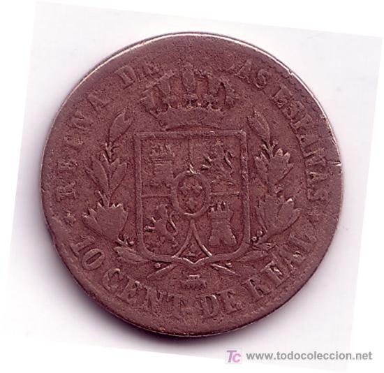 Monedas de España: MONEDA DE 10 CENTIMOS DE REAL-ISABEL II-AÑO 1860 - Foto 2 - 26669393