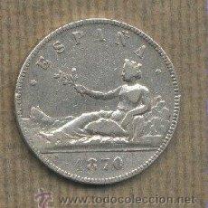 Monedas de España: MONEDA PLATA 5 PESETAS. GOBIERNO PROVISIONAL. 1870.. Lote 26844305