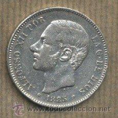 Monedas de España: MONEDA PLATA ALFONSO XII. 5 PESETAS.1885. MP. M.. Lote 26844264