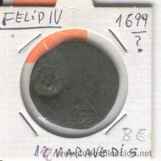 Monedas de España: FELIPE IV. MONEDA ANTIGUA. AÑO 1699. 12 MARAVEDIS. RESELLOS. RARA. Lote 26935989