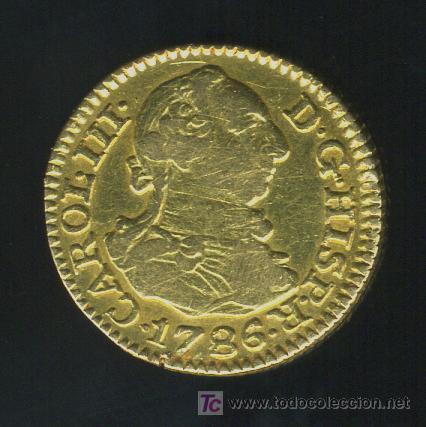 MONEDA ORO MEDIO ESCUDO CARLOS III , MADRID 1786 (Numismática - España Modernas y Contemporáneas - De Reyes Católicos (1.474) a Fernando VII (1.833))