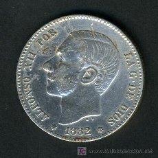Monedas de España: MONEDA 1 PESETA 1882 CON EL 82 MUY VISIBLE , RARA , PLATA. Lote 27051030