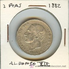 Monedas de España: MONEDA DE DOS PESETAS. ALFONSO XII. 1882. Lote 20606121