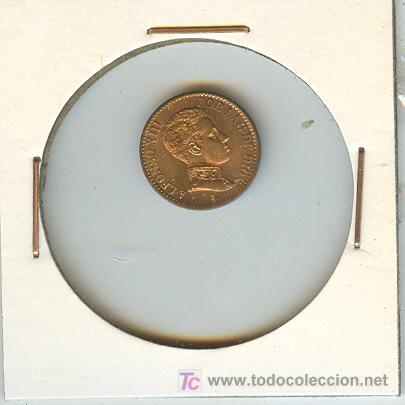 MONEDA DE ALFONSO XIII  1 CENTIMO  S L V  1906  S/C