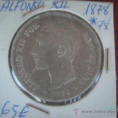 Monedas de España: MONEDA DE PLATA DE 5 PESETAS DE ALFONSO XII. AÑO 1878. Lote 11566981