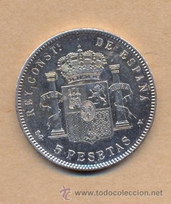 Monedas de España: MONEDA 93 - CINCO PESETAS ALFONSO XIII 1898/98 MADRID S G V - 5 PTS A XIII 1898/98 EBC M SGV - Foto 3 - 42903280