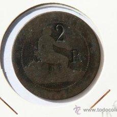 Monedas de España: 10 CENTIMOS 1870 RESELLO 2 R . Lote 12229668