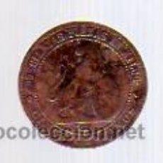 Monedas de España: 5 CÉNTIMOS 1870 - COBRE - GOBIERNO PROVISIONAL-.. Lote 12342796