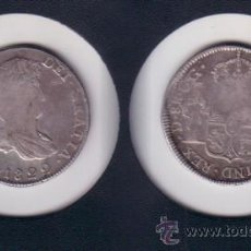 Monedas de España: FE7-5-FERNANDO VII. 8 REALES. DURANGO CG. 1822. PLATA. MBC- (CALICÓ 424). Lote 26552949