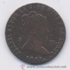 Monedas de España: ISABEL II- 8 MARAVEDIS- 1842- SEGOVIA. Lote 13045629
