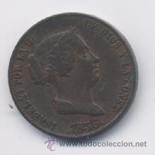 ISABEL II- 25 CENTIMOS DE REAL- 1856- SEGOVIA (Numismática - España Modernas y Contemporáneas - De Isabel II (1.834) a Alfonso XIII (1.931))