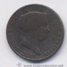 Monedas de España: ISABEL II- 25 CENTIMOS DE REAL- 1861- SEGOVIA. Lote 13045739