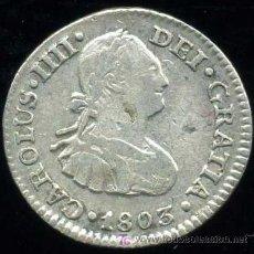Monedas de España: CARLOS IV : 1/2 REAL 1803 MEJICO (PLATA). Lote 24191945