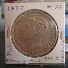 Monedas de España: 5 PESETAS ALFONSO XII PLATA 1877*77. Lote 18155651