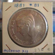 Monedas de España: 5 PESETAS 1881*81 _ALFONSO XII _PLATA. Lote 19243454