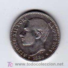 Monedas de España: ALFONSO XII. 50 CÉNTIMOS. AÑO 1880 *80. PLATA.. Lote 27361111