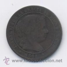 Monedas de España: ISABEL II- 2,1/2 CENTIMO DE ESCUDO- 1868-OM-JUBIA. Lote 14574541