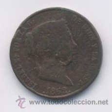 Monedas de España: ISABEL II- 25 CENTIMOS DE REAL-1862- SEGOVIA. Lote 14574597