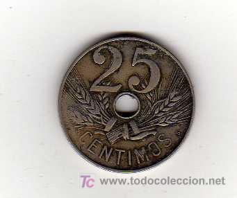 MONEDA DE 25 CENTIMOS - ESPAÑA 1927 (Numismática - España Modernas y Contemporáneas - De Isabel II (1.834) a Alfonso XIII (1.931))